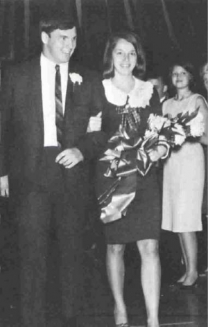 Homecoming King Rick McCune and Queen Jeri Jones, class of 1966
