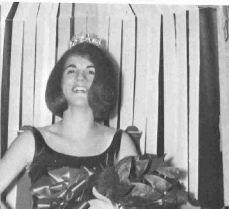 Our Sweetheart Queen for 1966 was Candy Goldflies. She is shown here smiling radiantly after being crowned.