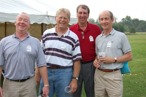 Alumni from the Class of 1965. Tim Kirkendall, Al Donaldson, Pat O'Connell and Jim Swank enjoying their 40th Class Reun