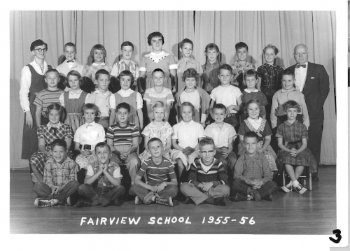 Fairview Elementary School class photo of 3rd grade 1955-56, submitted by Dan Wolfe FHS Class of '65