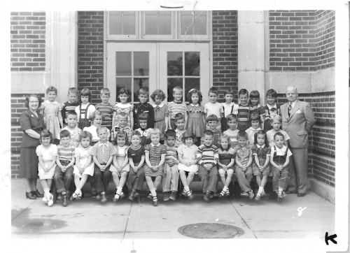 Fairview Elementary Kindergarten 1952-53 class photo, submitted by Dan Wolfe FHS Class of '65
