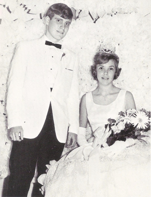 Our 1966 May Day King and Queen. Reed Putnam and Bonnie Bloom.