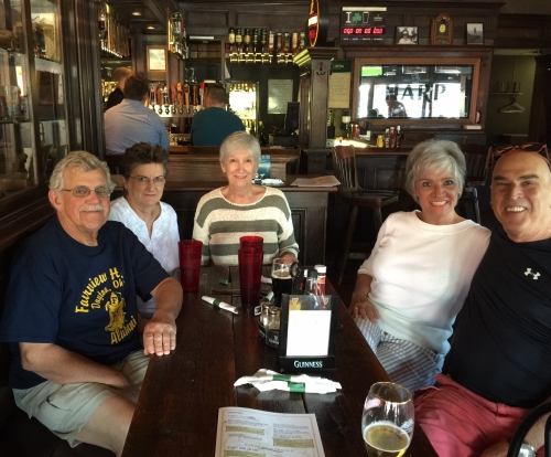 Don Msshos, Wendy Frech'67, Janan King '67, Sandy Raffel '67, Gary Goldflies