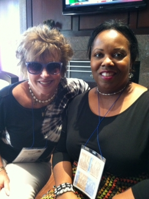 Andi Cowan could not attend the luncheon but sent us this photo of her and a friend in Cleveland.  Thanks Andi.