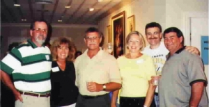 DAVE OAKES (far right)     Shown with Dave are: Larry Grossnickle, Leslie Bacon, Don Moshos, Cindy Griep, Murray Horwitz