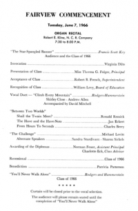COMMENCEMENT PROGRAM page 2