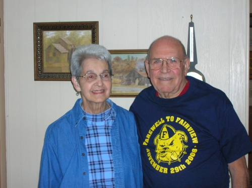 Mr. and Mrs. Bruggeman pictured at their home of over fifty years in Dayton, Ohio on October 1, 2009.