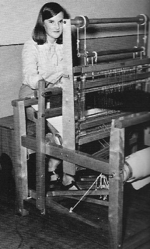 FHS students were  fortunate to have use of this large loom.