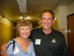 Friends from the Class of '65 met for the first time in 45 years. Susi Sower and Mark Donahue.