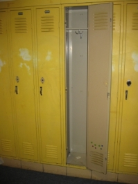 Lockers were definitely empty...but there were memories.