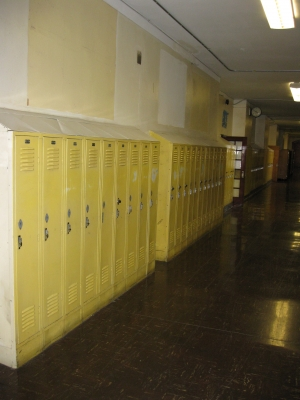 Hallways looked empty without all the class photos...but you could remember the thousands who walked these halls and alm