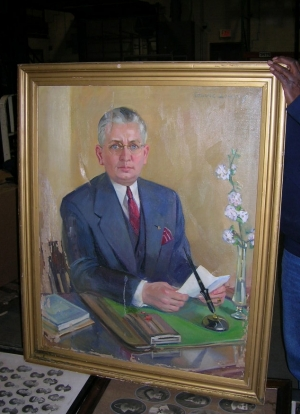 Painting of Don Longnecker. Photo Dan Wolfe, Class of 1965.