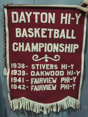 Dayton HI-Y Banner. Photo Dennis Huddleston, Class of 1965.
