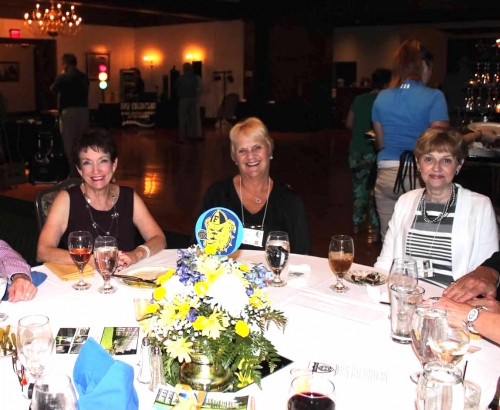 Susie, Janice and Marti sharing a Saturday night 50th Reunion dining table.